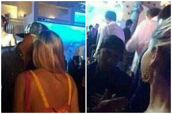 A jovem se aproxima e pede para tirar uma foto com o jogador durante a festa  (Instagram/Reprodução)