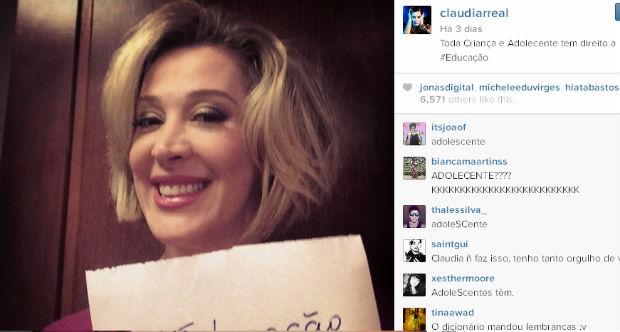 Seguidores prontamente comentaram erro de escrita da atriz (Instagram/Reprodução)