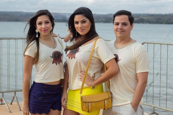 Lara Novaes, Rafaela Costa e Gustavo Conforto ( Romulo Juracy/Esp. CB/D.A Press)