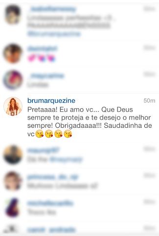 A resposta de Bruna Marquezine (Reprodução/ Instagram)