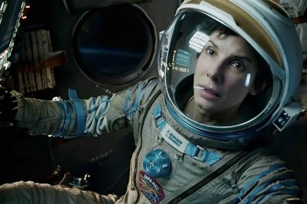 Sandra protagoniza 'Gravidade', filme de Alfredo Cuarón (Warner Bros/Divulgação)