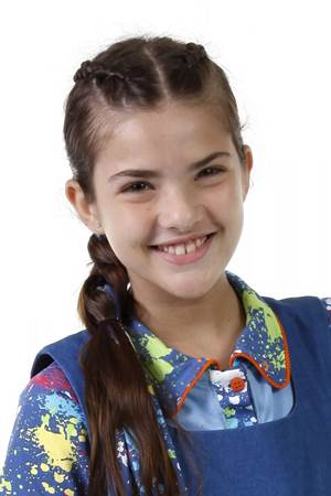 Personagem Vivi, de Chiquititas, interpretada pela atriz Lívia Inhudes (Lourival Ribeiro/SBT)