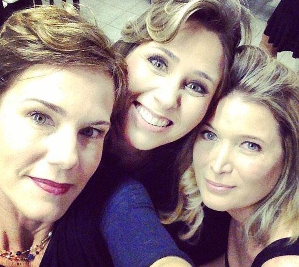Andreia Veiga com Andréia Sorvetão e Louise  (Reprodução/Instagram)