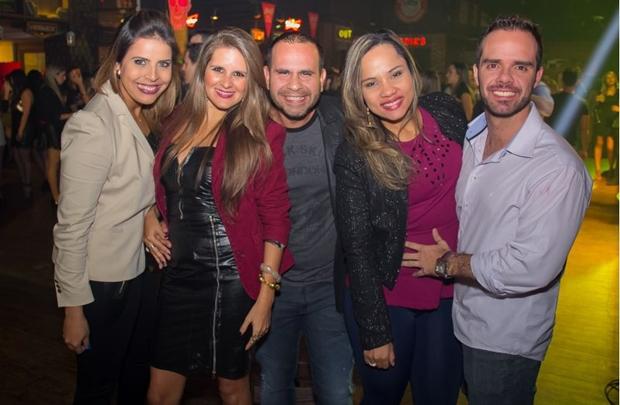 Luana Bassan, Patrícia Bini, Leandro Medeiros, Ana Camila e Eduardo Varanda (Romulo Juracy/Esp. CB/D.A Press)
