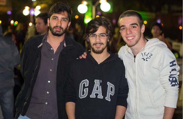 Luiz Gustavo Freitas, Túlio Ribeiro e Igor Ribeiro ( Romulo Juracy/Esp. CB/D.A Press)