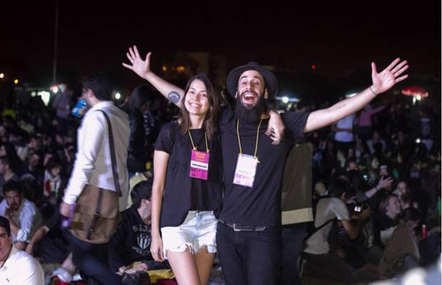 Maria Eduarda Loés e Fabrício Timm, os organizadores do evento  (Romulo Juracy/Esp. CB/D.A Press)