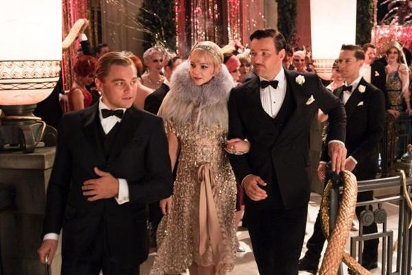 Leonardo DiCaprio, Carey Mulligan e Joel Edgerton no filme O grande Gatsby  (Warner Bros/Divulgação)