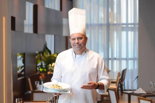 Chef Alvimar Mesquita e o risoto que mescla o sabor dos cogumelos e do limão  (Carlos Moura/CB/D.A Press)
