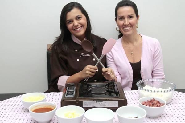 Marcelle Pinheiro e Priscilla Lacerda, sócias no bufê de risotos em casa  (Ana Rayssa/Esp. CB/D.A Press)