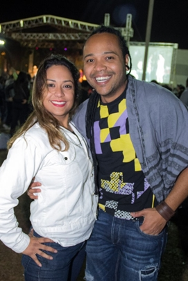 Lauriane Claro e Alex Barros (	Romulo Juracy/Esp. CB/D.A Press)
