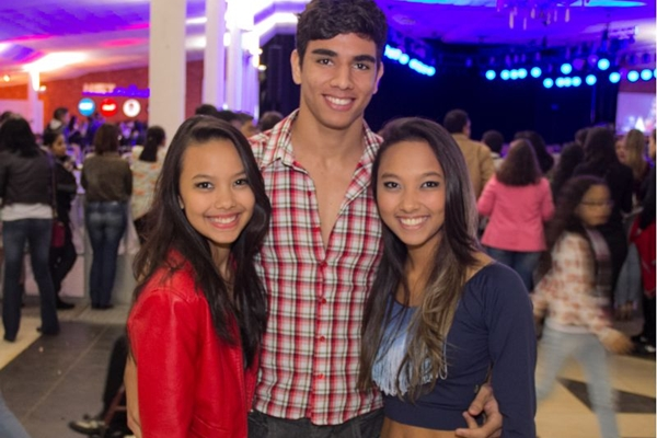 Larissa Lumi, Guilherme Araújo e Letícia Yuki (Romulo Juracy/Esp. CB/D.A Press)