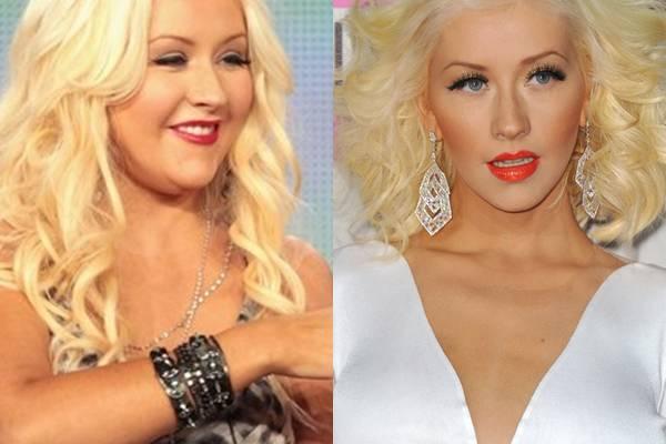 A cantora Christina Aguilera vem exibindo um corpo esbelto após uma cirurgia e a uma dieta radical que se submeteu, conseguindo eliminar quase 40 quilos (Reprodução/Internet)