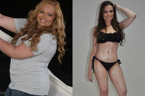 Solange Almeida, vocalista da banda Aviões do Forró, chegou a pesar 120 quilos. Após uma cirurgia no estômago, a cantora perdeu 55 quilos (Reprodução/Internet)