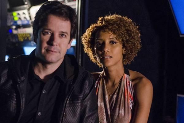 Personagens Jonas, interpretado pelo ator Murilo Benício, e Verônica, interpretada pela atriz Taís Araújo, na novela Geração Brasil (Ellen Soares/TV Globo)