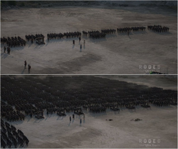 Efeitos especial em Game of Thrones  (Reprodução/Vimeo)