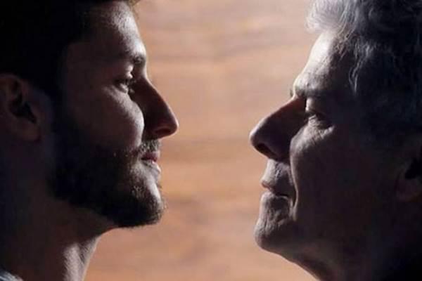 Leonardo e Cláudio vão continuar sem concretizar o romance: para público de pesquisa, cenas de beijo e carinhos mais íntimos entre pessoas do mesmo sexo só interessam aos homossexuais (TVGlobo/Divulgação)