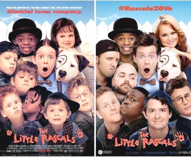 O antes e depois do elenco de Os Batutinhas (Reprodução/ Facebook)