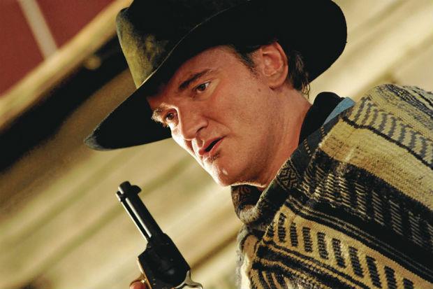 Diretor Quentin Tarantino no set de 'Django livre' (2012) (The Weinstein Company/Divulgação)