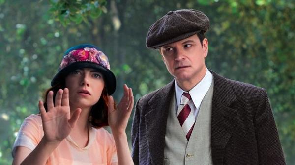 Emma Stone e Colin Firth em Magia ao luar: desconfiança e amor lado a lado (Imagem Filmes/Divulgação)
