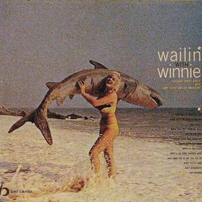 No final da década de 50, Winnie Gould lançou o álbum Wailin' With Winnie com esta capa (Reprodução/Internet)