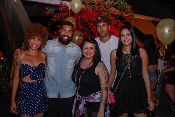 Camila Pereira, Thiago Jamelão, Mayara Nayanne, Adriano Mendes e DJ Janna (RomuloJuracy/Esp. CB/D.A Press)