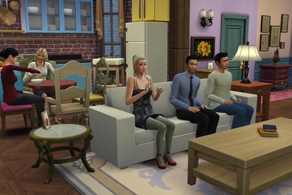Monica, Rachel, Phoebe, Chandler, Ross e Joey foram recriados no The Sims 4 (Reprodução/ Imgur@IanRoach)