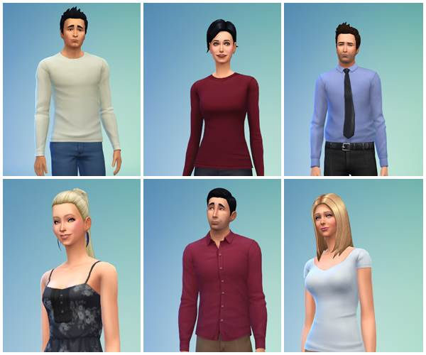Personagens de 'Friends' no jogo do The Sims (Reprodução/ Imgur@IanRoach)
