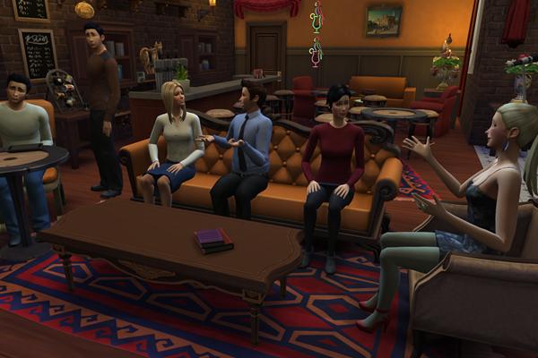 Decoração do café Central Perk,  de 'Friends' (Reprodução/ Imgur@IanRoach)