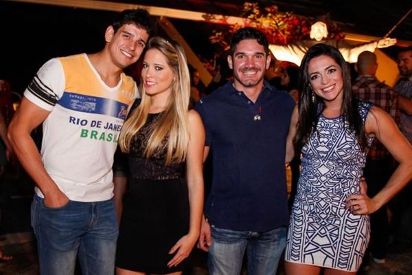 Felipe Rizzini, Késsia Magalhães, Luis Gustavo e Patrícia Anjos (RomuloJuracy/Esp. CB/D.A Press)