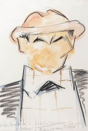 Retrato dedicado por Barradas ao amigo García Lorca (Bettina/Divulgação)