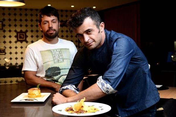 O empresário Thales Cipriano e o chef Seref Ertek: nordeste contemporâneo no Guará  (Marcelo Ferreira/CB/D.A Press)