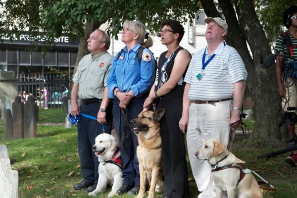 Documentário Cães heróis mostra os animais usados no resgate das vítimas do atentado de 11 de setembro  (Animal Planet/Divulgação)