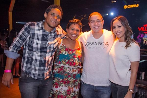 Thiago Oliveira, Thaissa Aranha, Bruno Reis e Ana Carolina Peixoto (Romulo Juracy/Esp. CB/D.A Press)