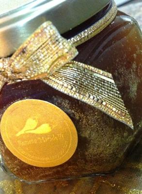 Geleia de espumante, maçã fresca e ouro criada pela chef Rafaela Mandelli (Rafaela Mandelli/Divulgação)