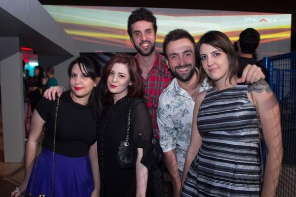 Débora Maciel, Bruna Athayde, Matheus Castro, Conrado Alcântara e Camila Bogaz (Romulo Juracy/Esp.CB)