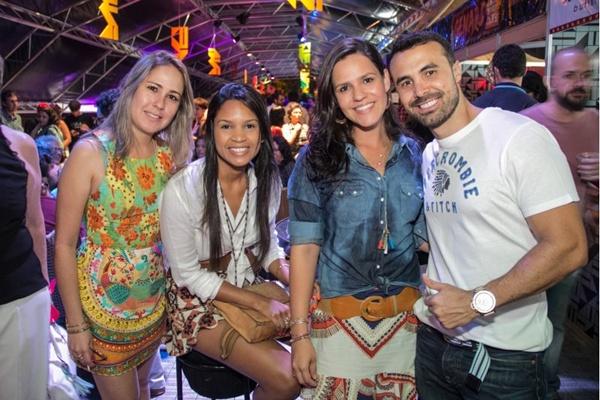 Aline Godois, Luciana Reis, Patrícia Ferreira e Cleomar Caixeta (Romulo Juracy/Esp. CB/D.A Press)