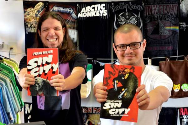 Tiago Palma e Gabriel Gonçalves se renderam ao universo de Sin City (Gustavo Moreno/CB/D.A Press)
