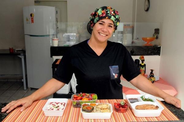 Tatyane Lima oferece refeições balanceadas no Marmita Express  (Antonio Cunha/CB/D.A Press)