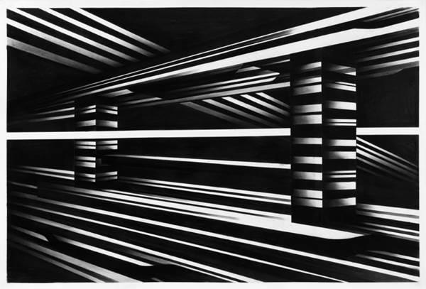 Os desenhos de Victor Riqué apresentam influências que vão da arte déco à arquitetura stalinista (Victor Lema Rique/Divulgação)