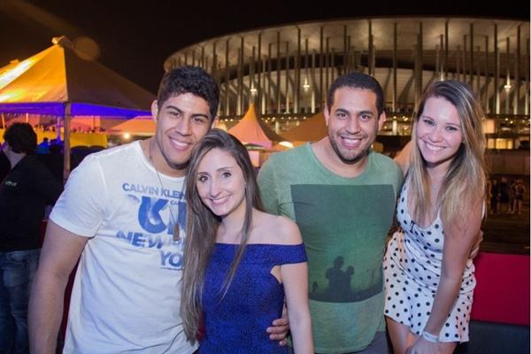 Pedro Boechat, Bruna Ramony, Felipe Resende e Camila Castro (Rômulo Juracy/Esp. CB/D.A Press)