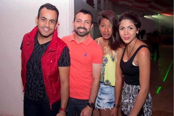 Ricardo Oliveira, Wanderson Santos, Ellen Lee e Camila Souza (Romulo Juracy/Esp. CB/D.A Press)