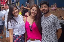 Nathália Braga, Thaís Moraes e Eduardo Bueno ( Romulo Juracy/Esp. CB/D.A Press)