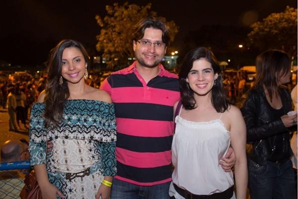 Daniele Andrade, João Ramalho e Elisa Alencar (Romulo Juracy/Esp. CB/D.A Press)