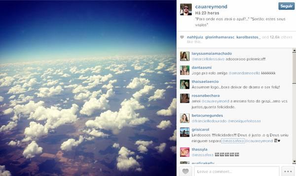 Foto publicada na conta de Cauã Reymond (Instagram/Reprodução)