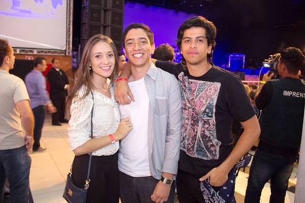 Maria Luiza Andrade, Matheus de Oliveira e Tiago Araújo (Romulo Juracy/Esp. CB/D.A Press )