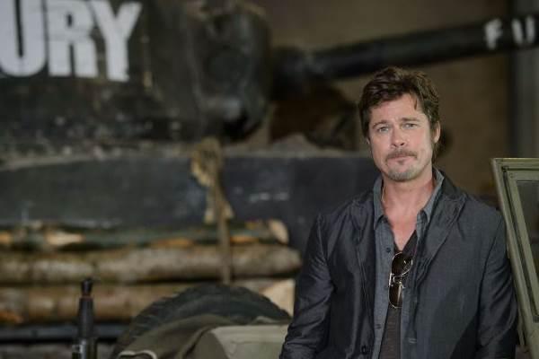 Pitt interpreta um comandante de uma tripulação em Fúria (Leon Neal/AFP Photo)