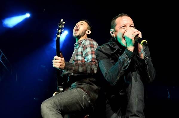 Os californianos da Linkin Park estreiam em palcos brasilienses (Ethan Miller/Getty Images/AFP)