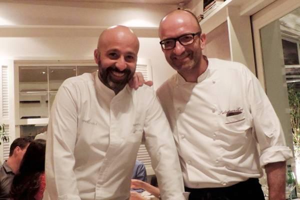 Receitas autorais deram o tom em jantar capitaneado pelos chefs Niko Romito e Salvatore Loi  (Liana Sabo/CB/D.A Press)