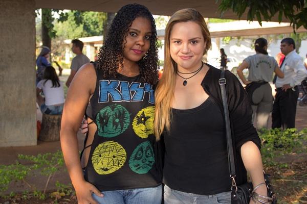 Ana Carolina Souza e Fernanda Fernandes no QZO Festival, na Funarte (Rômulo Juracy/Esp. CB/D.A Press)