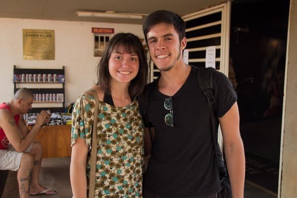 Clara Lenzi e Yan Brito no QZO Festival, na Funarte (Rômulo Juracy/Esp. CB/D.A Press)